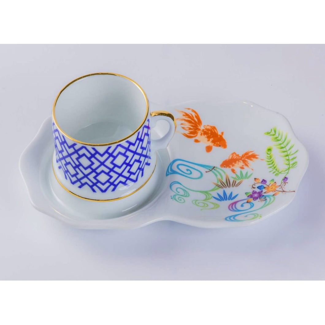 ByLeona Fishes, Cup & Saucer Set