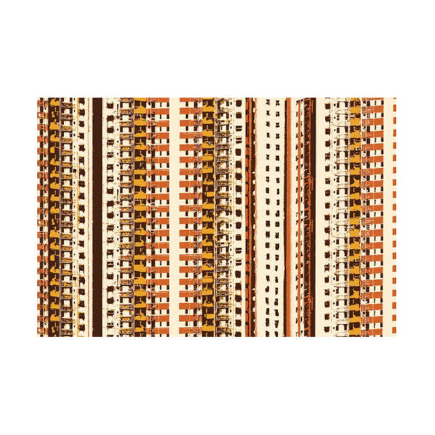 'Hong Kong cityscapes' placemat (orange/white)