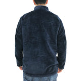 Chinese Plush Jacket, Navy
