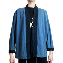 Load image into Gallery viewer, Kimono Jacket with 5 Lines Lapel, Navy