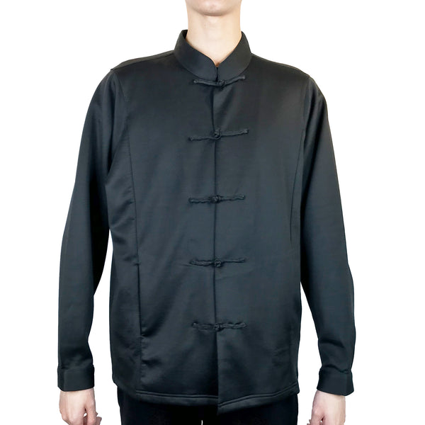 Chinese Button Jacket, Black (Camouflage Inside)