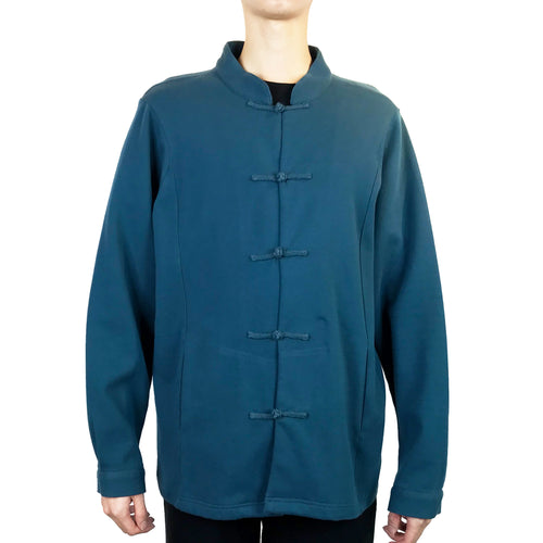 Chinese Button Jacket, Teal (Dark Grey Inside)