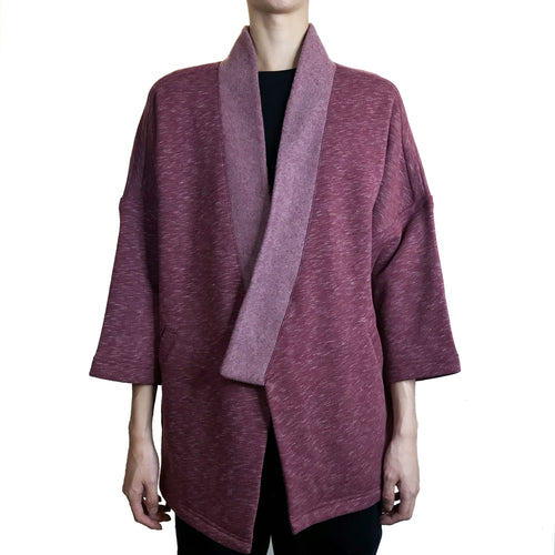 Ka Lok Lama Jacket, Burgundy Fleece
