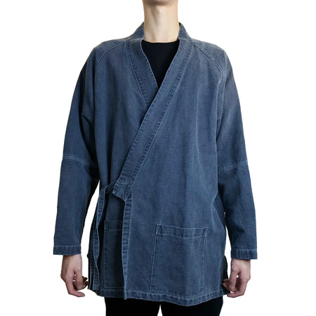 Chinese Buttons Jacket, Dark Blue