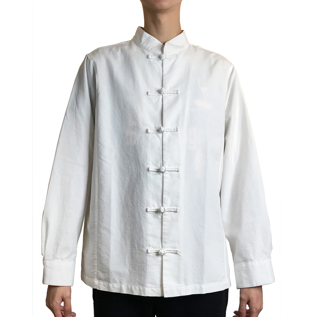 Chinese Buttons Shirt, White