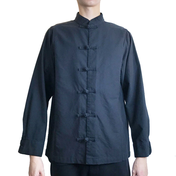 Chinese Buttons Shirt, Black