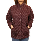 Padded Chinese Sung Jacket, Dark Red