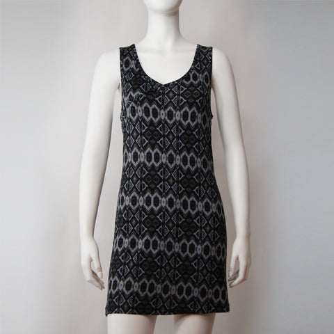 'Lok Yi' tank dress (black tribal)