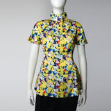 Swing Mui Jai Top (yellow abstract) | Goods of Desire