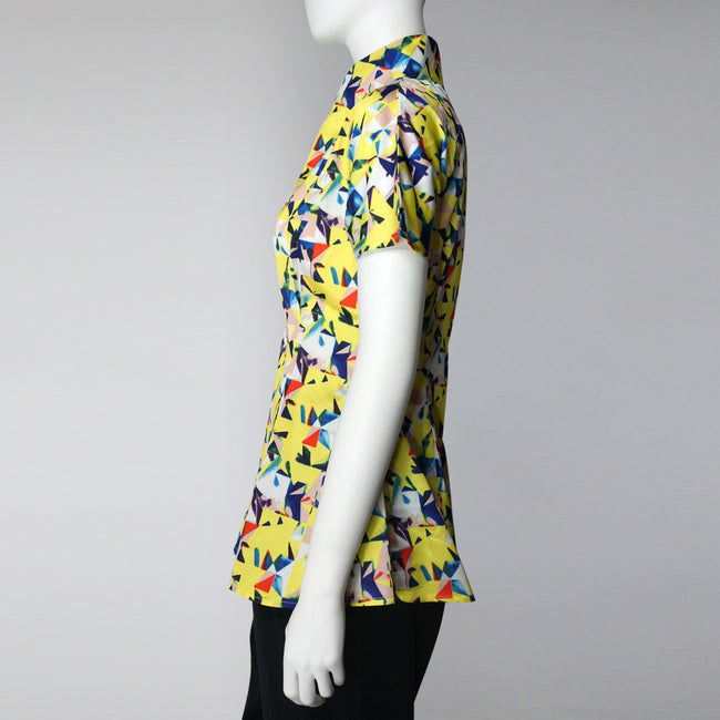 Swing Mui Jai Top (yellow abstract)