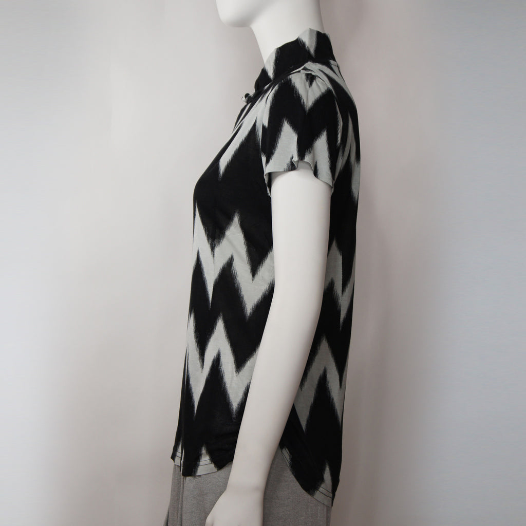 Jersey Mui Jai Top (Black/Chevron)