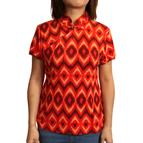 Jersey Mui Jai Top, Chevron/Flame