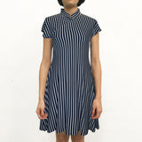 'Twisted Rope' Printed Qipao Dress