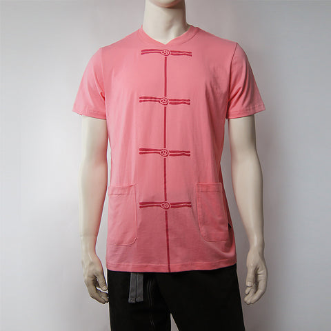 'Chinese Button' print tee (pink), T-shirt, Goods of Desire, Goods of Desire