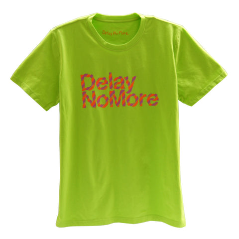Delay no more diagonal stripe T-shirt (Lime)