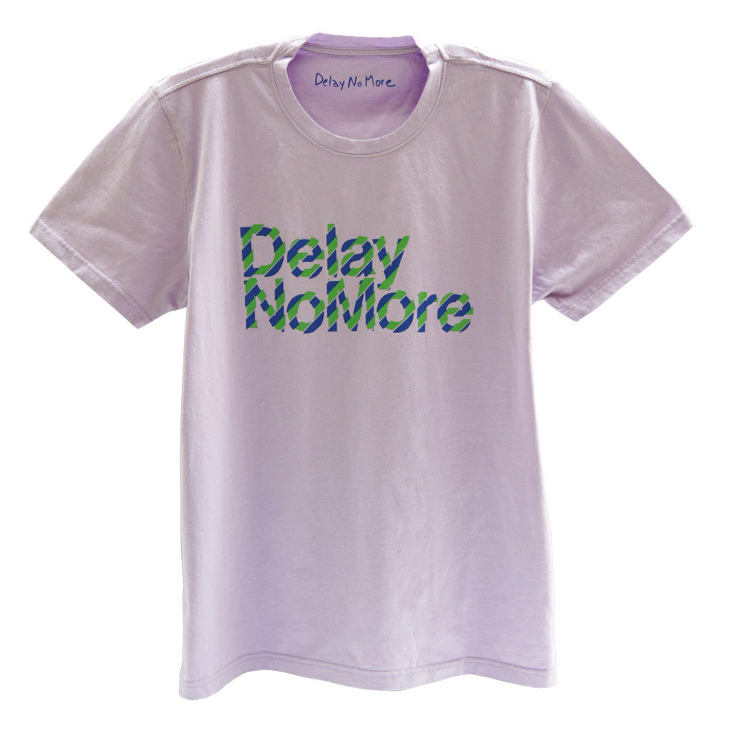 Delay no more diagonal stripe T-shirt (Lilac)