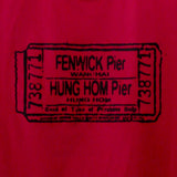 'Vintage Ferry Ticket' tee (red)