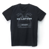 'De Lorean' T-shirt (black), T-shirt, Goods of Desire, Goods of Desire
