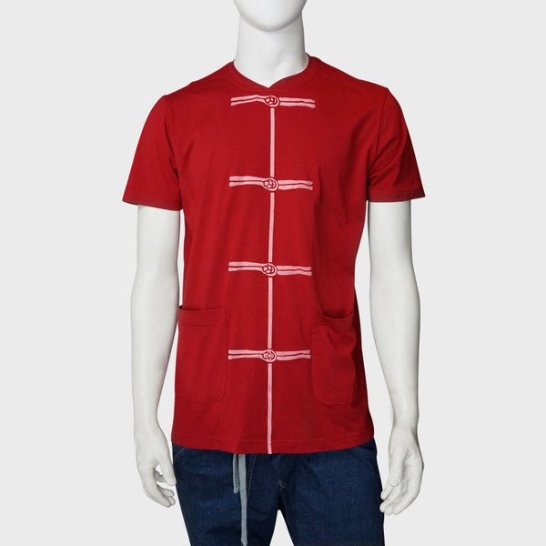 'Chinese Button' print tee (red), T-shirt, Goods of Desire, Goods of Desire