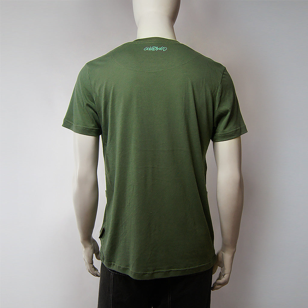 'Chinese Button' print tee (dark green), T-shirt, Goods of Desire, Goods of Desire