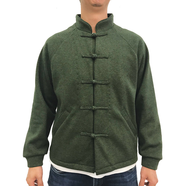 Chinese Fleece Lining Jacket, Green (Grey)