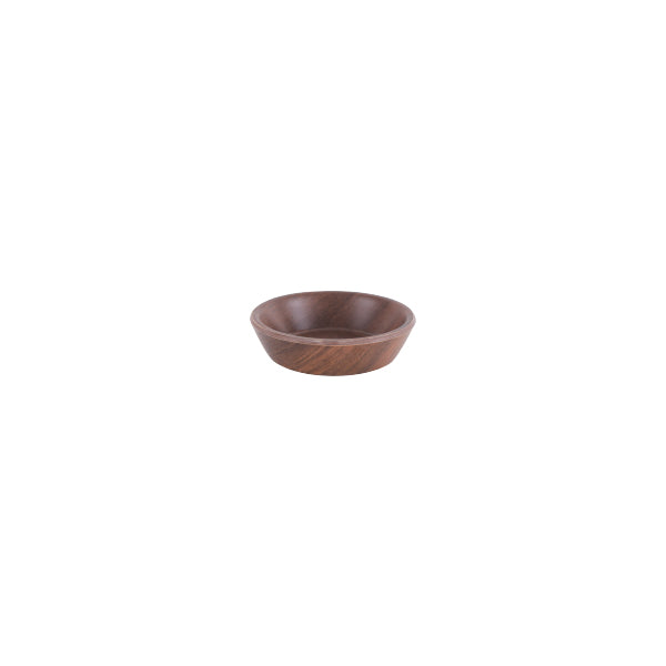 Zicco Round Bowl, Brown Wood