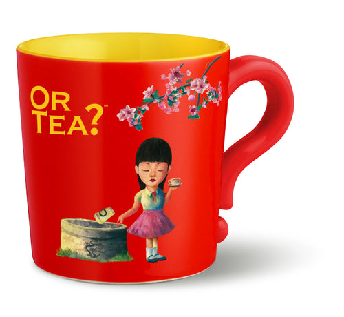 Or Tea? Mug in Bright Red