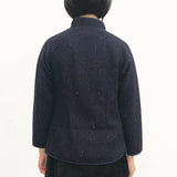 Chinese Buttons Jacket, Navy Weave