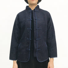 Load image into Gallery viewer, Chinese Buttons Jacket, Navy Weave