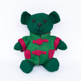Bear with Green Chinese Jacket, Green
