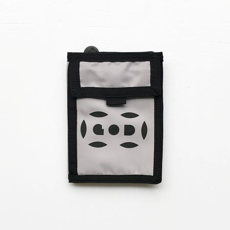 'Nathan Road Puzzle' Leather Essential Flat Pouch