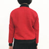Chinese Zip Jacket, Red Weave