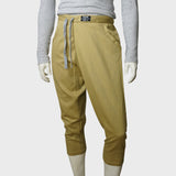 3D cropped Chinese pants (khaki)