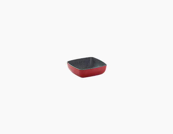Zicco Square Bowl, Red+Gray Dots