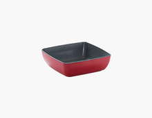 Load image into Gallery viewer, Zicco Square Bowl, Red+Gray Dots
