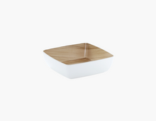 Load image into Gallery viewer, Zicco Square Bowl, White/Wood