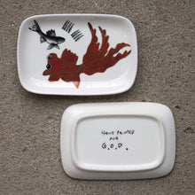 Load image into Gallery viewer, 'Goldfish' Hand Painted Soap Dish, Orange