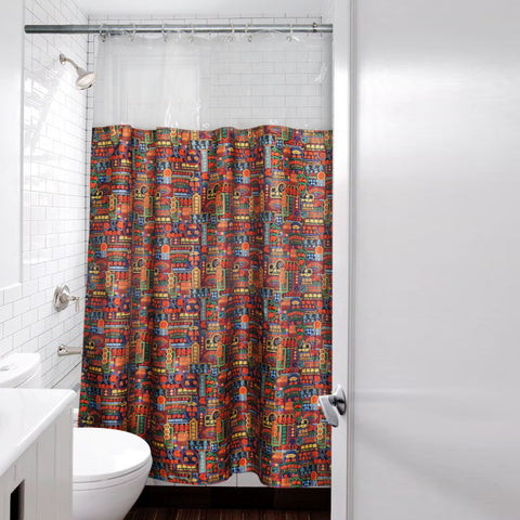 'Nathan Road' shower curtain - 180x220cm