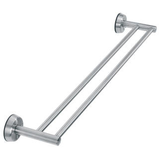 Double Towel Rail, Matt Steel by Brabantia