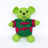 Bear with Green Chinese Jacket, Lime