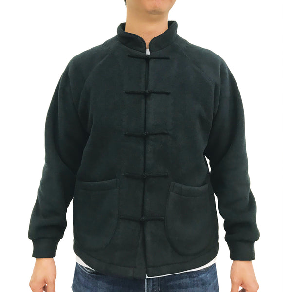 Chinese Fleece Lining Jacket, Black (Black)