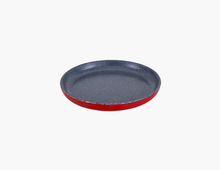 Load image into Gallery viewer, Zicco Round Plate, Red+Gray Dots