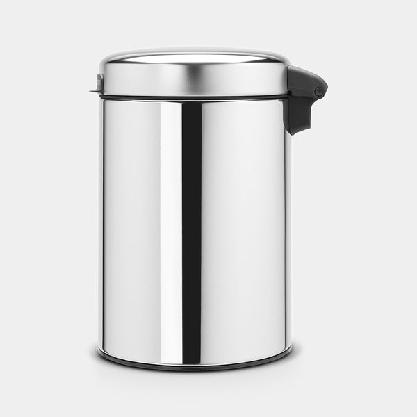 Wall-Mounted Bin 3L, Brilliant Steel by Brabantia