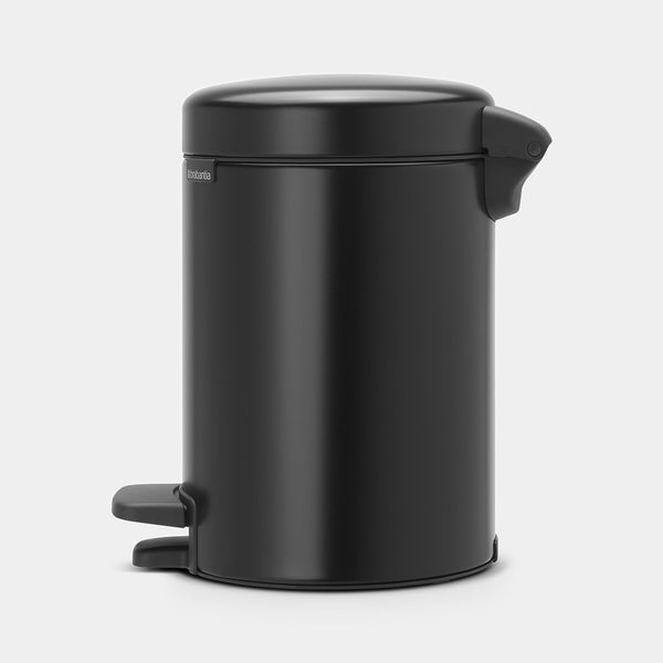 Pedal Bin NewIcon 3L, Matt Black by Brabantia