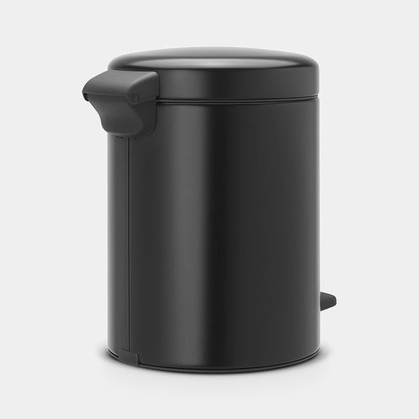 Pedal Bin NewIcon 5L, Matt Black by Brabantia