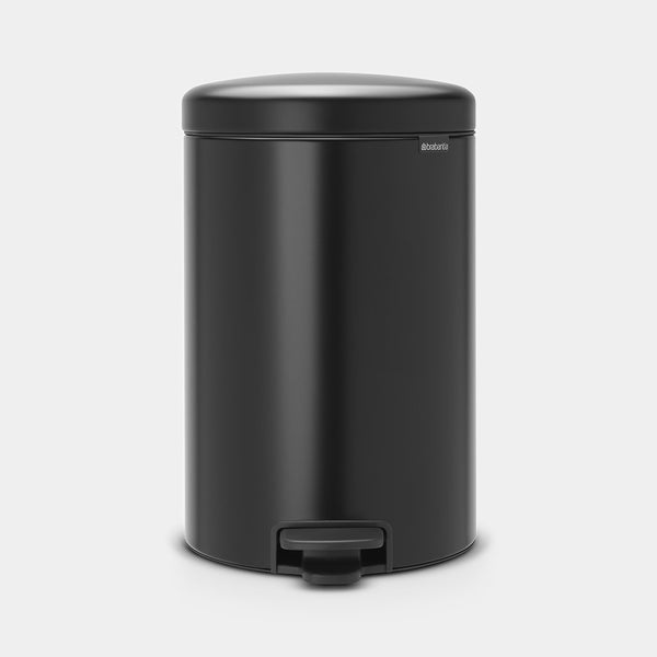 Pedal Bin NewIcon 20L, Matt Black by Brabantia