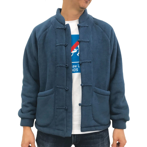 Chinese Fleece Lining Jacket, Blue (Navy)
