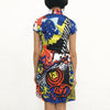 'Wah' Printed Qipao Dress