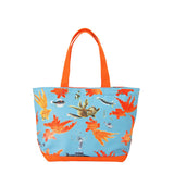 'Goldfish' zipped canvas tote bag (small)
