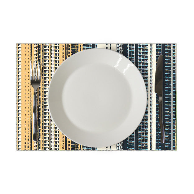 'Hong Kong cityscapes' placemat (blue/yellow/white)
